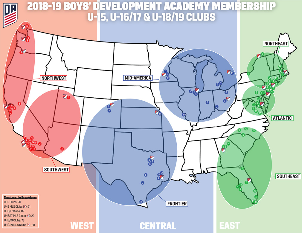 U.S. Soccer Development Academy on map of lo, map of general motors, map of vb, map of cr, map of ra, map of le, map of no, map of so, map of gr, map of ge, map of white, map of sa, map of re, map of kawasaki, map of sp, map of tv, map of ta, map of international, map of ch, map of pc,