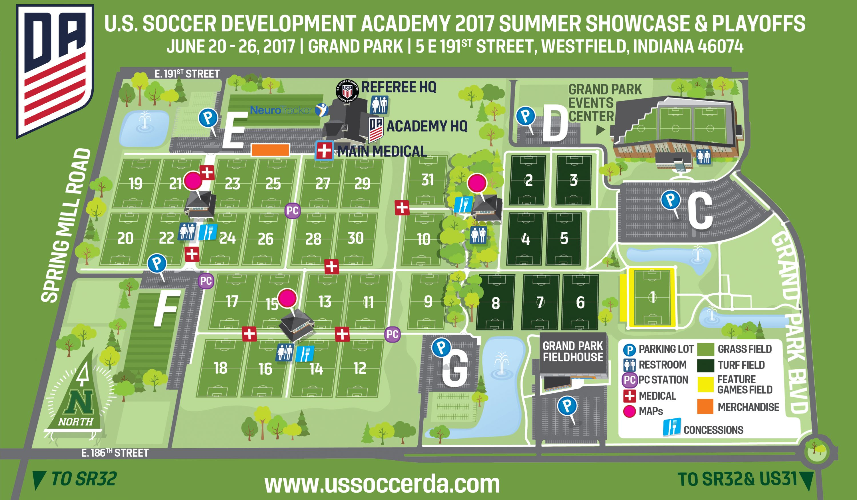 U S Soccer S Official Store Will Located By Lot E Near The North Fields And The Development Academy Hq Purchase Your Official Da On Site Or Online Here